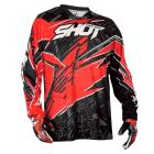Maillot BMX enfant SHOT Devo Motion rouge