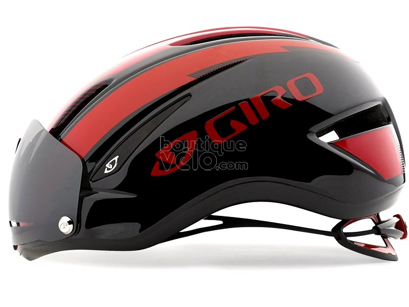 casque giro air attack shield rouge noir avec visi re 2016. Black Bedroom Furniture Sets. Home Design Ideas